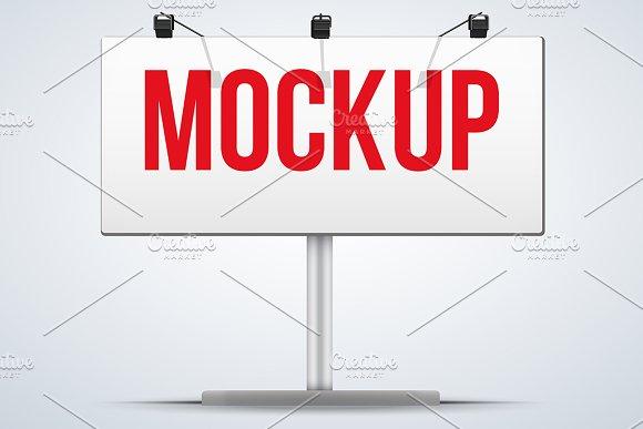 Mockup billboard with spotlights 5