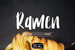Ramen The Hungry Font