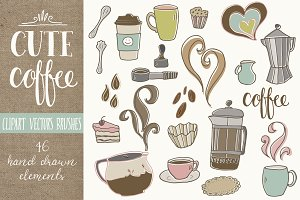 Cute Coffee Clip Art