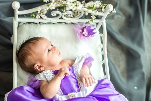 Newborn baby girl princess