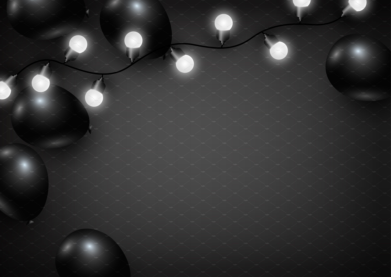 Black Balloon Background Illustrations Creative Market