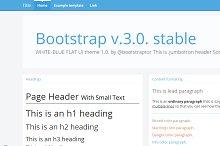 Bootstrap 3.0. RC2 theme white-blue