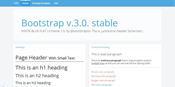 Bootstrap 3.0. RC2 theme white-blue - Bootstrap
