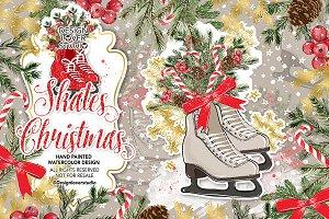 Skates Christmas design