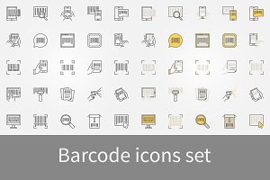 Barcode icons set