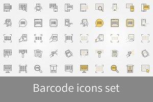 Barcode icons set