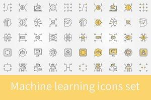 Machine learning icons set