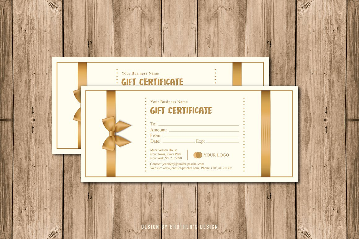 Gift certificate card template card templates creative market yelopaper Image collections