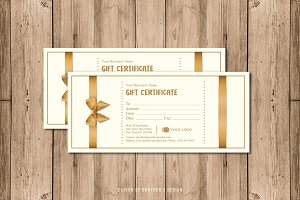 Gift Certificate Card Template