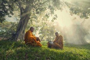 Buddha religion concept