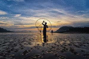 asia traditional fisherman