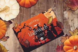 Halloween Poster Mock-up #11