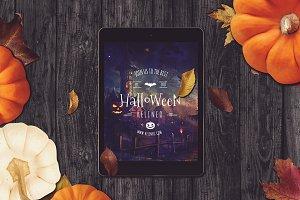 Halloween Tablet Mock-up #12