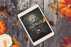 Halloween Tablet Mock-up #13