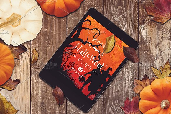 Halloween Tablet Mock-up #14