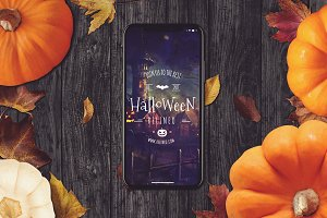 Halloween iPhone X Mock-up #15