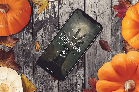 Halloween iPhone X Mock-up #16
