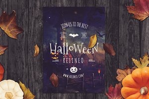 Halloween Poster Mock-up #18