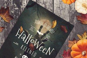 Halloween Poster Mock-up #19