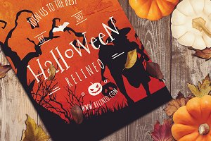 Halloween Poster Mock-up #20