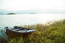 Rowing along the lake.