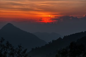 Sunrise over Mountain Landscape