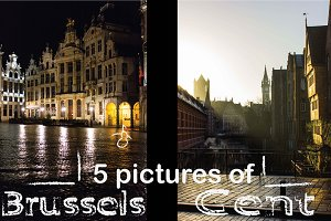 Ghent and Brussels in the morning