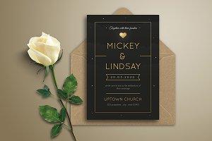Night Wedding Invitation