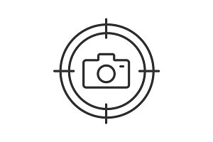 Searching photos linear icon