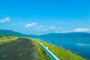 Lakeside road.