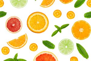Citrus seamless pattern