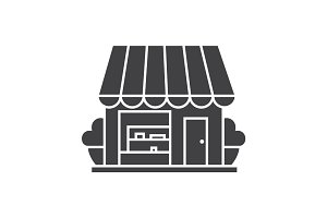 Small shop glyph icon