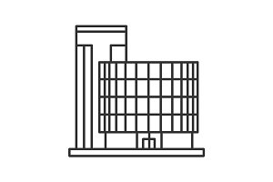Office building linear icon
