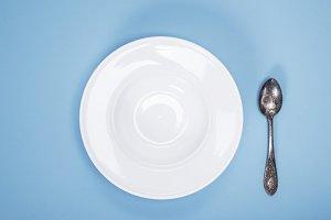 round ceramic empty plate
