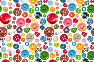 Seamless pattern with buttons