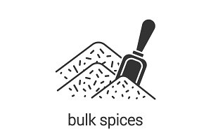 Bulk spices glyph icon