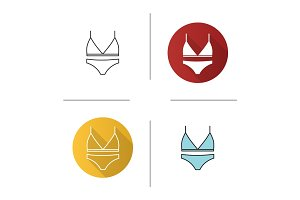 Women's underwear icon