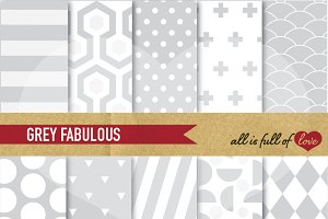 Grey Digital Printable Patterns