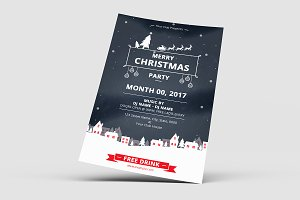 Christmas Party Flyer Template-V645