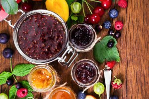 Different berry jam