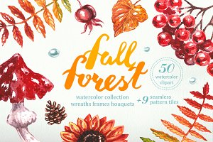 """Watercolor Collection """"Fall Forest"""""""
