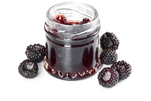 Jam made from black raspberries