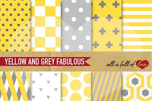 Yellow & Grey Digital Papers