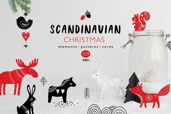 Scandinavian style Christmas bundle