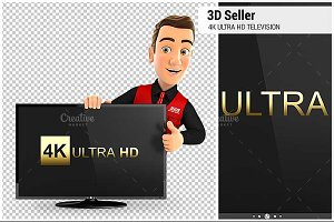 3D Seller with Ultra HD Television