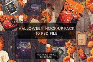 Halloween Mock-ups 10 PSD Pack