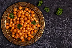 chickpeas on a plate