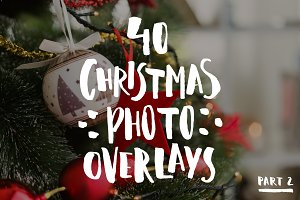 40 Christmas Photo Overlays