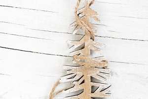 Decorative wooden Christmas tree