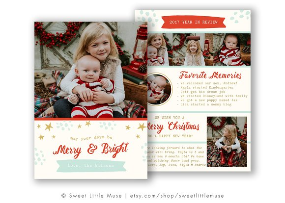 year in review christmas card - Year In Review Christmas Card
